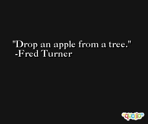 Drop an apple from a tree. -Fred Turner