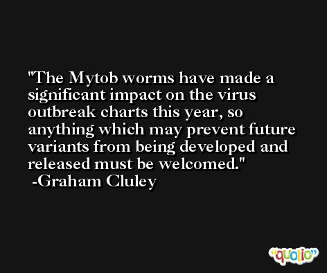 The Mytob worms have made a significant impact on the virus outbreak charts this year, so anything which may prevent future variants from being developed and released must be welcomed. -Graham Cluley