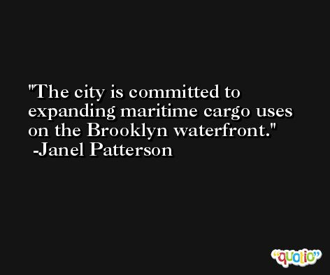 The city is committed to expanding maritime cargo uses on the Brooklyn waterfront. -Janel Patterson