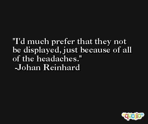 I'd much prefer that they not be displayed, just because of all of the headaches. -Johan Reinhard