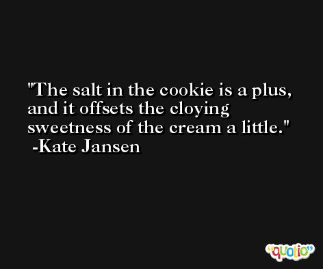 The salt in the cookie is a plus, and it offsets the cloying sweetness of the cream a little. -Kate Jansen