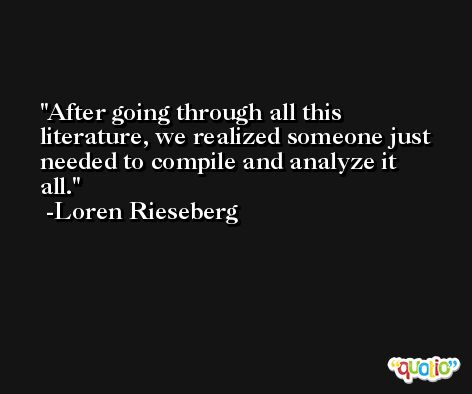 After going through all this literature, we realized someone just needed to compile and analyze it all. -Loren Rieseberg