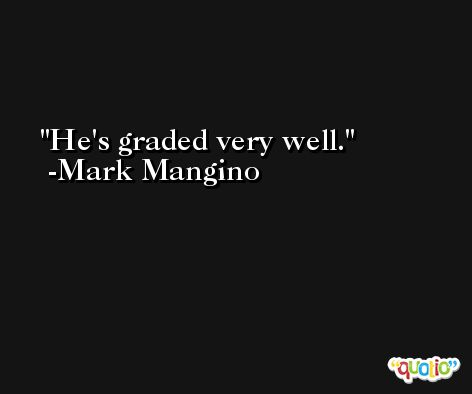 He's graded very well. -Mark Mangino