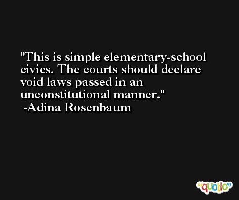 This is simple elementary-school civics. The courts should declare void laws passed in an unconstitutional manner. -Adina Rosenbaum