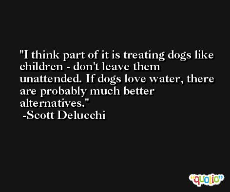 I think part of it is treating dogs like children - don't leave them unattended. If dogs love water, there are probably much better alternatives. -Scott Delucchi