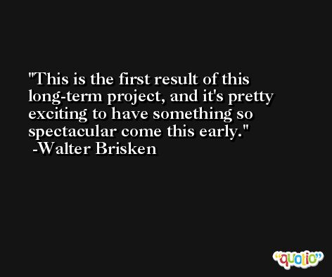 This is the first result of this long-term project, and it's pretty exciting to have something so spectacular come this early. -Walter Brisken