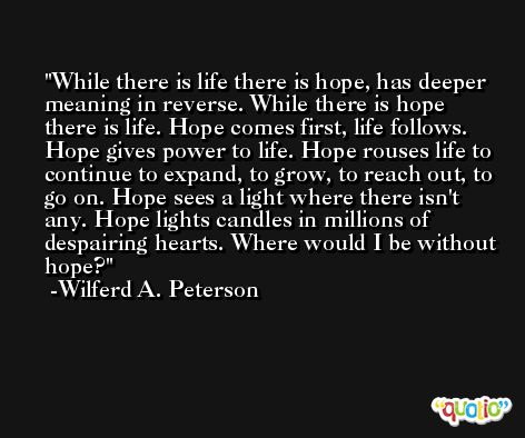 essay hope is life