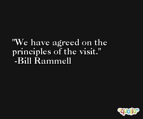 We have agreed on the principles of the visit. -Bill Rammell